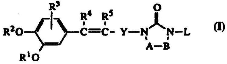 DERIVADOS DE 1,3-DIHIDRO-1-(FENILALQUENIL)-2H-IMIDAZOL-2-ONA QUE TIENEN ACTIVIDAD INHIBIDORA DE PDE IV Y DE CITOQUINA.