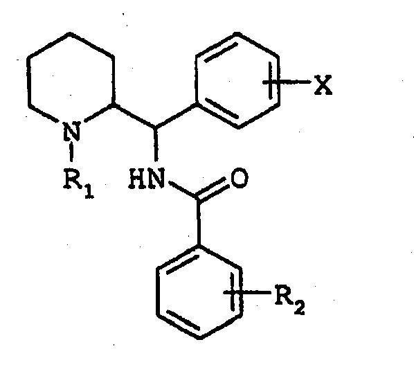 DERIVADOS DE N-(FENIL(PIPERIDIN-2-IL)METIL)BENZAMIDA, SU PREPARACION Y SU APLICACION EN TERAPEUTICA.