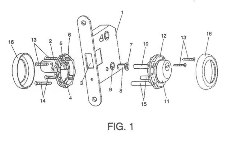 Dispositivo para la incorporacion de una cerradura con - Picaporte magnetico ...