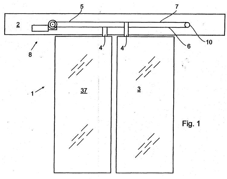 Sistema de puerta corredera con un dispositivo de - Sistema para puertas correderas ...
