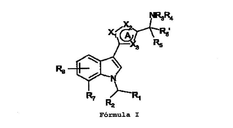 DERIVADOS (INDOL-3-IL)HETEROCICLICO, COMO AGONISTAS DEL RECEPTOR DE CANNABINOIDES CB1.