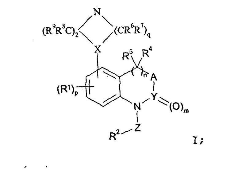 DERIVADOS 1-BENCIL-5-PIPERACIN-1-IL-3,4-DIHIDRO-1H-QUINAZOLIN-2-ONA Y DERIVADOS RESPECTIVOS DE 1H-BENZO(1,2,6)TIADIACIN-2,2-DIOXIDO Y 1,4-DIHIDRO-BENZO(D)(1,3)OXACIN-2-ONA COMO MODULADORES DEL RECEPTOR 5-HIDROXITRIPTAMINA(5-HT) PARA TRATAMIENTO ENFERMED. SISTEMA NERVIOSO CENTRAL.