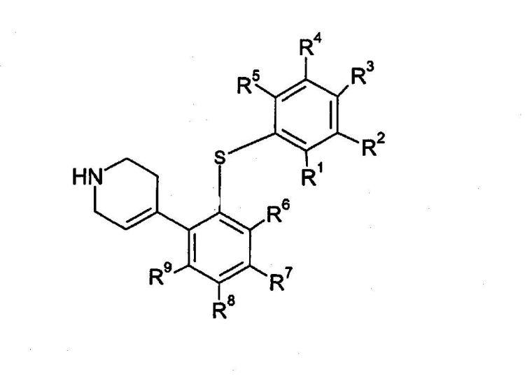 DERIVADOS DE 4-(2-FENILSULFANIL-FENIL)-1,2,3,6-TETRAHIDROPIRIDINA COMO INHIBIDORES DE LA REABSORCION DE SEROTONINA.