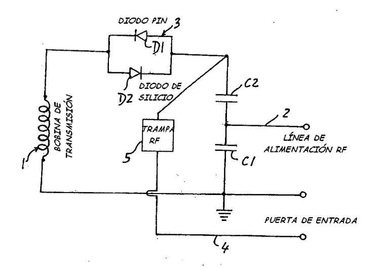 CIRCUITO PARA EL DESACOPLAMIENTO ACTIVO DE BOBINAS DE TRANSMISION EN APARATOS DE IMAGEN POR RESONANCIA MAGNETICA NUCLEAR PARTICULARMENTE DEL TIPO DE CAMPO BAJO.