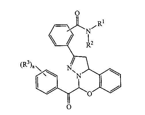 DERIVADOS DE (1,10B-DIHIDRO-2-(AMINOCARBONIL-FENIL)-5H-PIRAZOLO(1,5-C)(1,3)BENZOXAZIN-5-IL)FENIL METANONA COMO INHIBIDORES DE LA REPLICACION VIRAL DEL VIH.