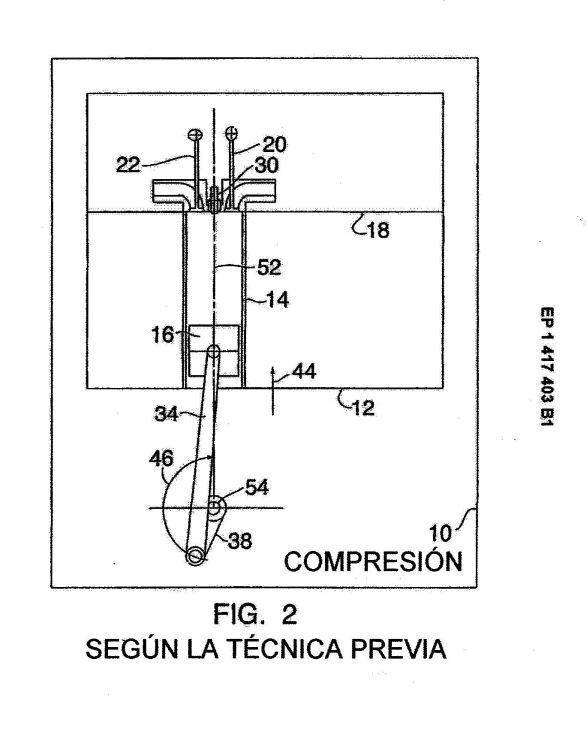 MOTOR DE COMBUSTION INTERNA DE CUATRO TIEMPOS DIVIDIDO.