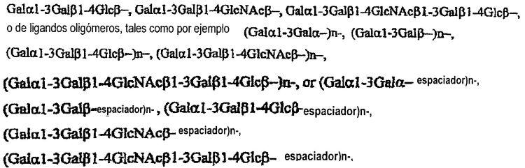 SOPORTES OLIGOSACARIDOS PARA POR EJEMPLO RETIRAR ANTICUERPOS DE LA SANGRE.