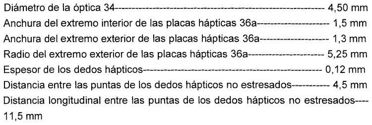 LENTE INTRAOCULAR ACOMODADORA QUE TIENE HAPTICOS EN FORMA DE T.