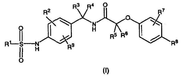 COMPUESTOS DE N-SULFONILAMINOBENCIL-2-FENOXIACETAMIDA SUSTITUIDOS.