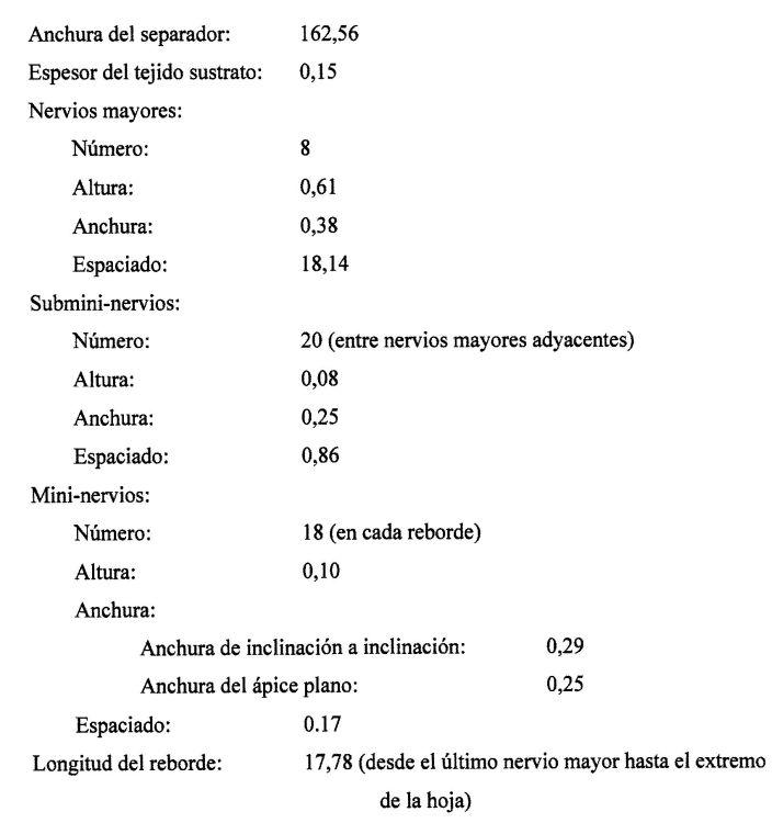 SEPARADOR DE BATERIA CON PROTECTORES DE SOPORTE DE LODO.