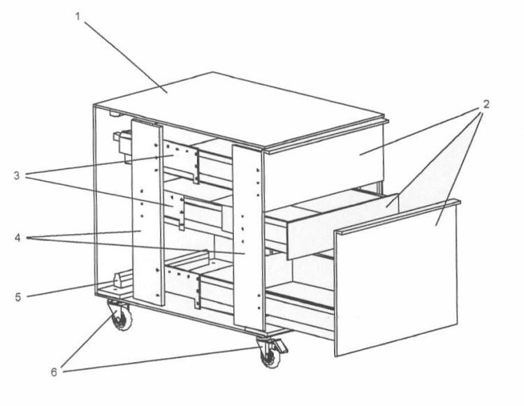 Mueble clasificador y organizador para oficinas de - Muebles de metacrilato ...