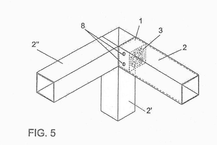 Uniones para tubos de muebles cip 2007 for Uniones para perfiles cuadrados de aluminio