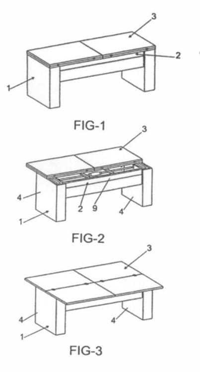 Mesa de centro elevable 1 16 de marzo de 2009 for Como hacer una mesa extensible