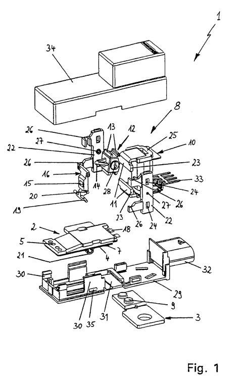 accionamiento magnetico para un rele    patentados com