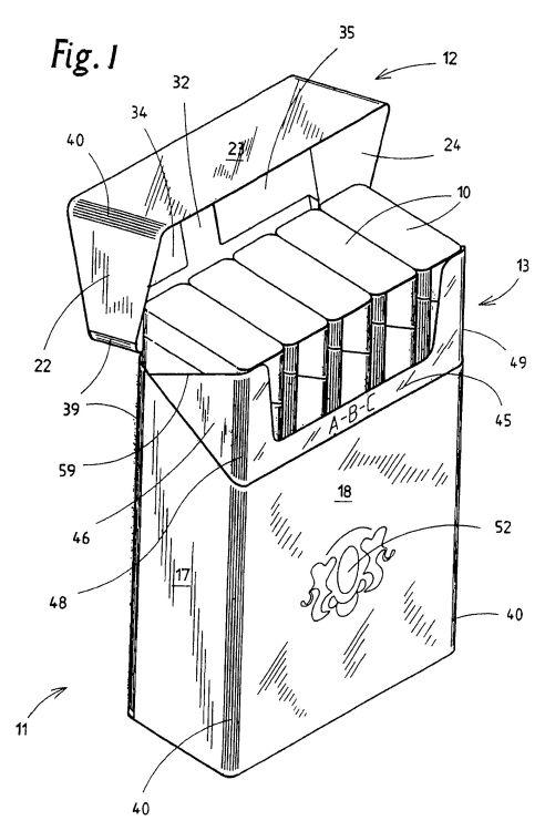 Plantilla de caja de cigarros con medidas - Imagui