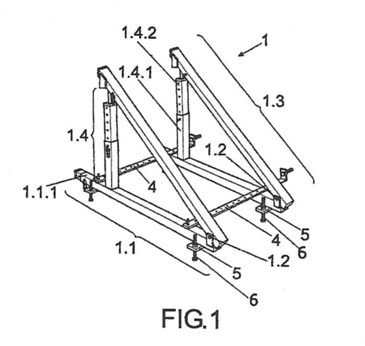Dispositivo modular de encofrado para escalera for Encofrado de escaleras de concreto