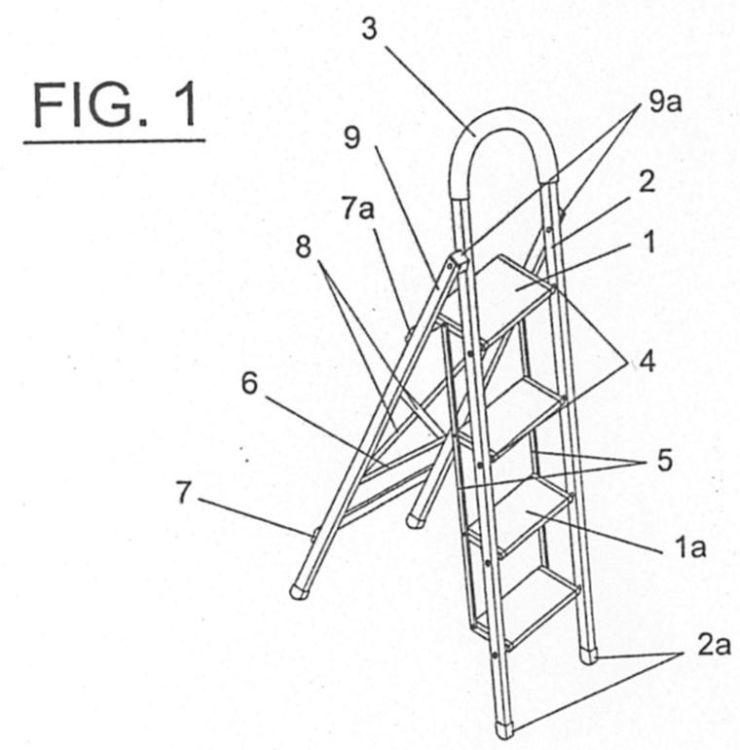 Escalera plegable con pelda os abatibles for Silla escalera plegable planos