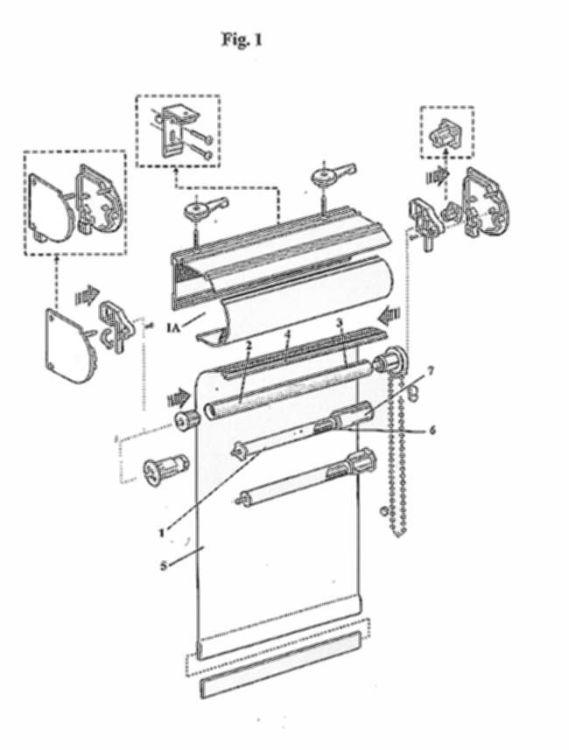 Mecanismo para subir bajar estores cortinas o similares - Soporte para estores ...