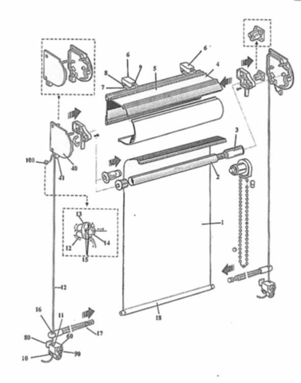Miembros de anclaje para mecanismos de estores y cortinas - Mecanismos de estores ...
