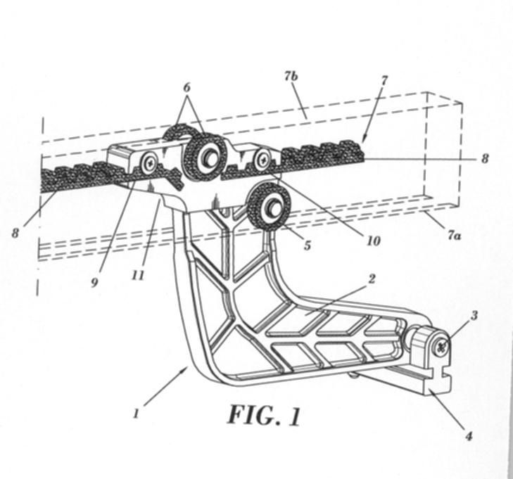 Patin de arrastre mejorado aplicable a un mecanismo - Mecanismo para toldos ...