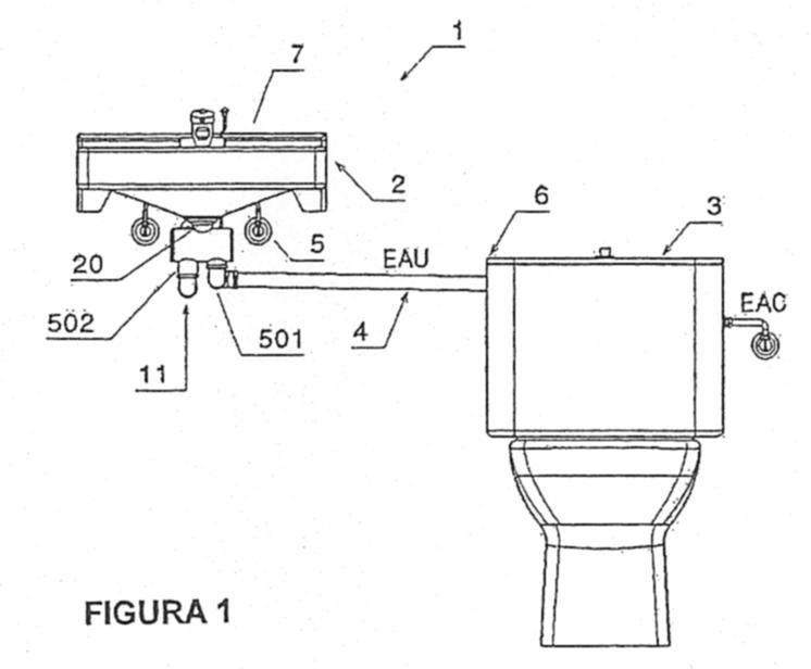 Sistema de lavabo y cisterna de inodoro para - Inodoro y lavabo en uno ...