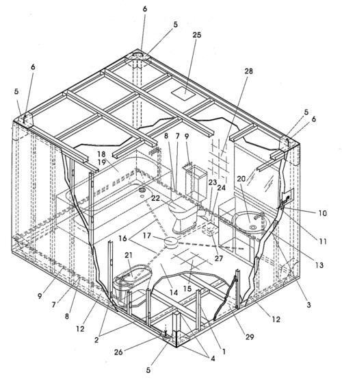 Cuarto de ba o prefabricado de estructura auxiliar - Cuarto de bano prefabricado ...