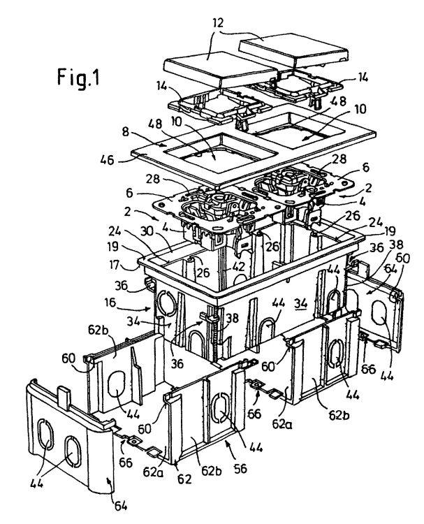 sistema de instalacion electrica que comprende una caja portamecanismos con una superficie de