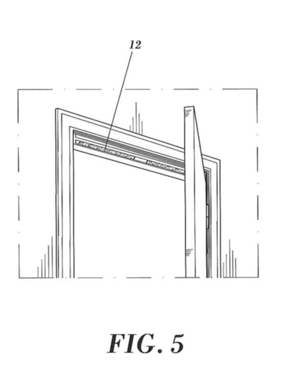 aireador de paso lineal para puertas yo marcos de puerta