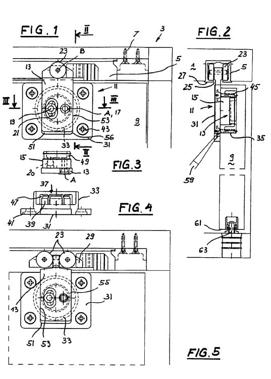 Conjunto de mecanismo de rodadura para una puerta de - Mecanismos de puertas correderas ...