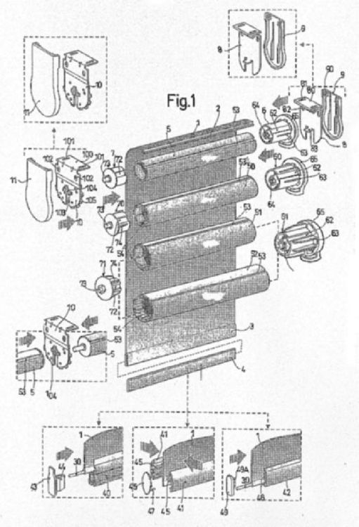 Mecanismo multiple combinado para estores cortinas y - Mecanismos de estores ...