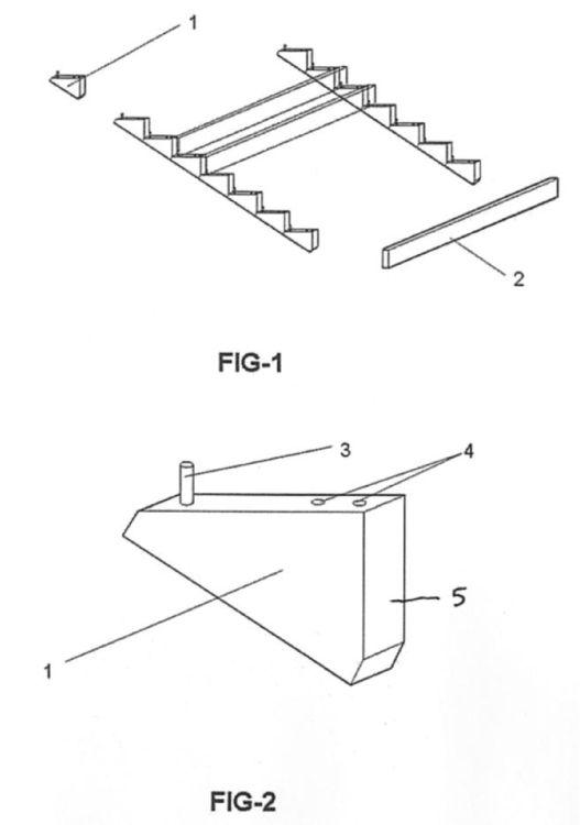 Estructura de encofrado para escaleras for Encofrado de escaleras de concreto