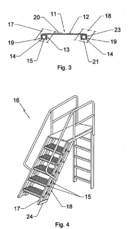 Escalon metalico para escaleras metalicas de cualquier tipo for Escalera tipo u