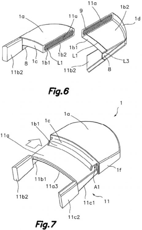 Asa amovible de material flexible y aislante del calor - Material aislante del calor ...