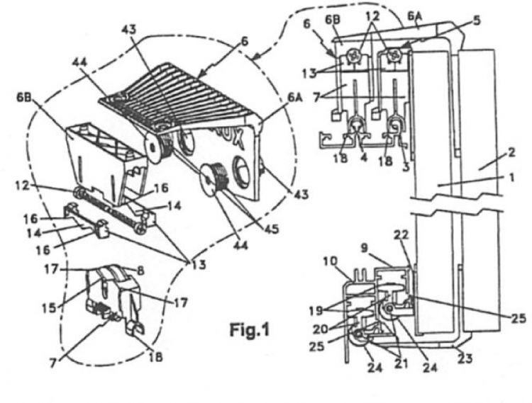 Dispositivo para un sistema de puertas correderas de - Sistema para puertas correderas ...