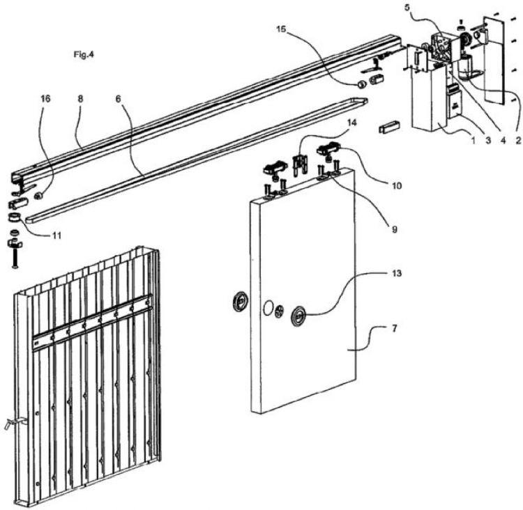 Dispositivo motorizado para puertas correderas - Mecanismo puerta corredera ...
