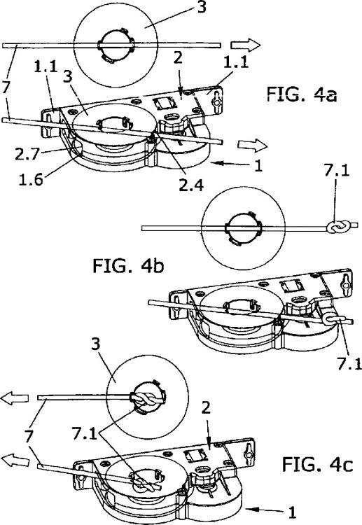 Tambor de enrollamiento transversal compacto para persianas for Partes de una persiana