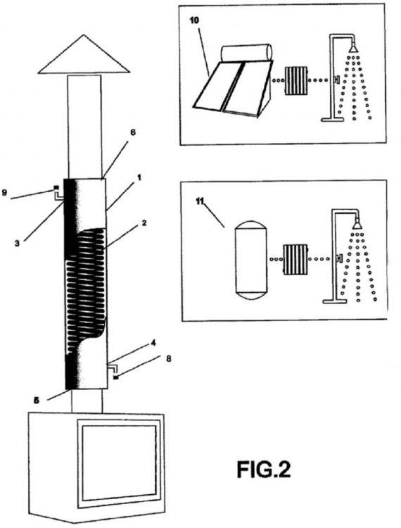 Modulo recuperador de calor destinado a chimeneas de hogares for Chimeneas para calefaccion