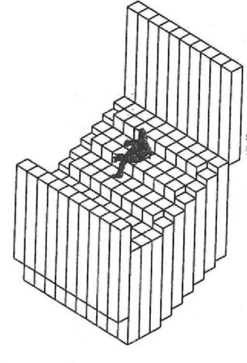 Sistema de modulos moviles programable para la for Dimensiones de espacios arquitectonicos