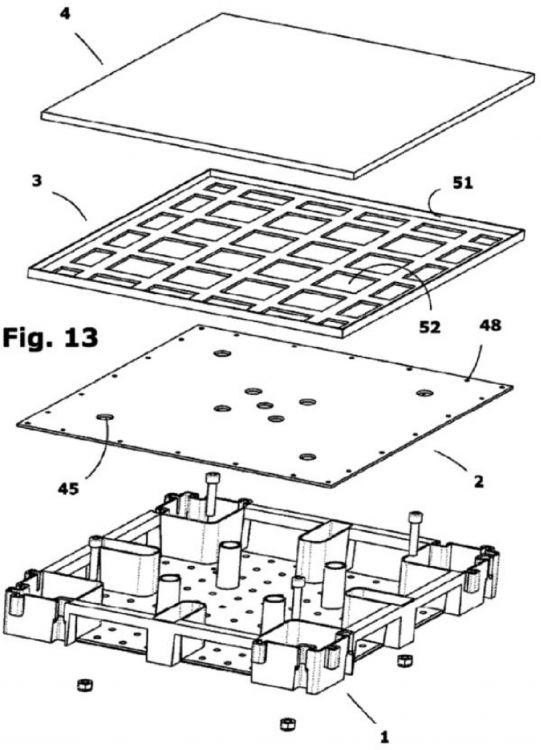 Detalle suelo tecnico suelo plastico polietileno gris spr for Detalle suelo tecnico