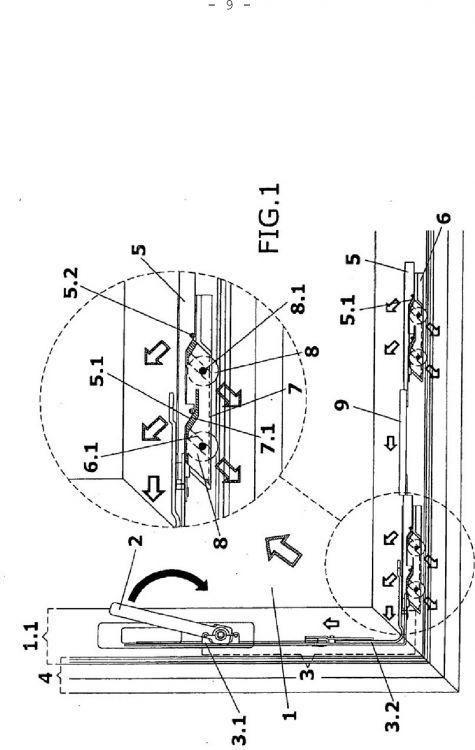 Mecanismo de guiado de un movimiento diagonal ascendente - Mecanismos de puertas correderas ...
