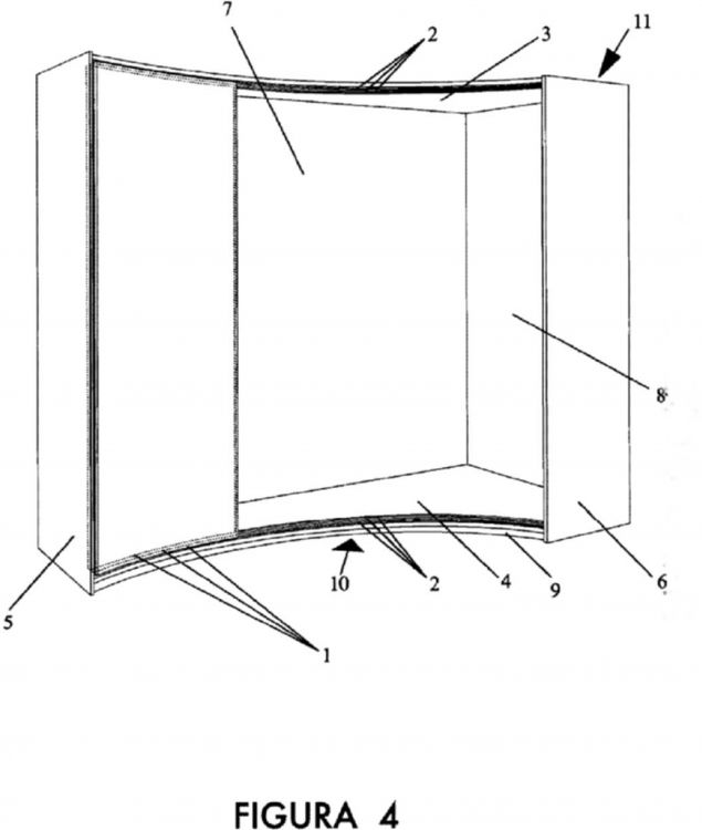 Armario de rincon con puertas correderas curvas concavas for Puertas correderas curvas