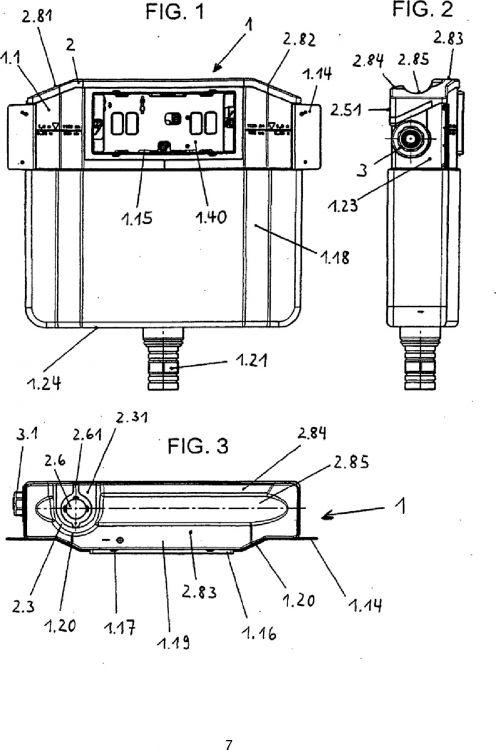 Cisterna empotrada con cuerpo de cisterna configurado de - Cisterna empotrada ...