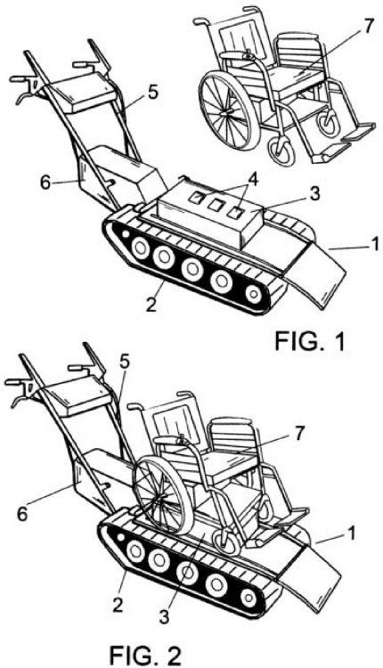 Dispositivo para desplazar sillas de minusvalidos for Sillas de escaleras para minusvalidos