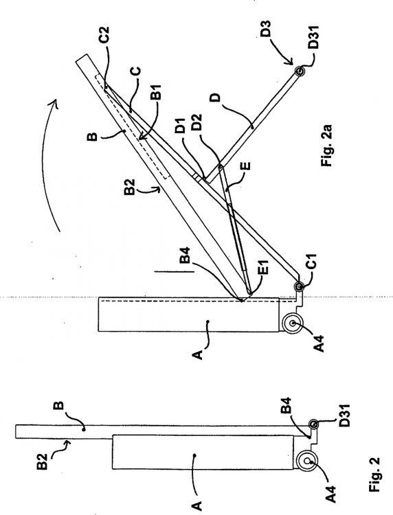 Tabla de planchar con mecanismo plegable y mesa de for Mesa planchar plegable