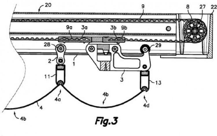 Conjunto de toldo horizontal plegable - Mecanismo para toldos ...