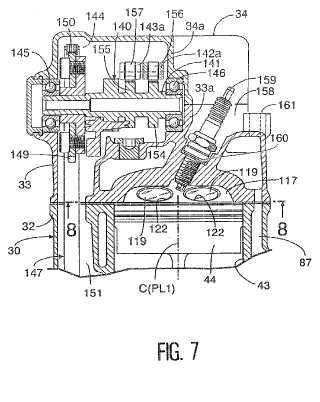 Motor de tipo refrigerado por agua.