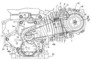 Engranaje de válvula de motor.