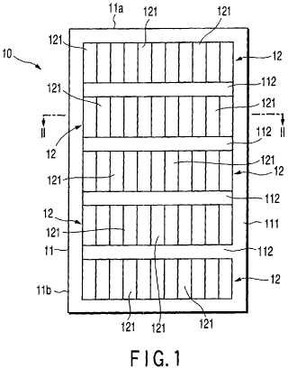 Módulo de celda solar de película delgada de tipo translúcido.