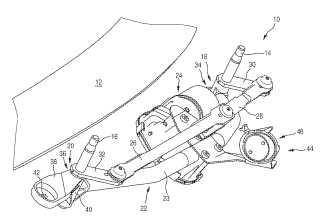 Dispositivo limpiaparabrisas, en especial para un vehículo de motor.