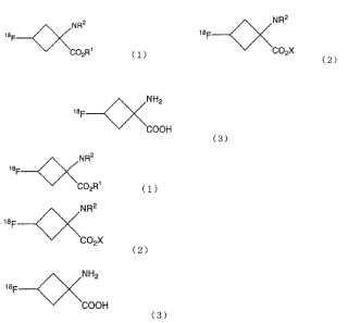 Procedimiento para la producción de compuesto orgánico marcado con flúor radioactivo.